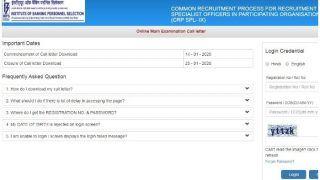 IBPS ने जारी किया SO Mains का एडमिट कार्ड, यहां से करें डाउनलोड, जानें इससे जुड़ी तमाम जानकारियां