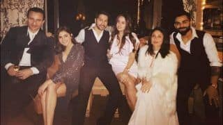 Happy New Year 2020: Saif Ali Khan, Kareena Kapoor Khan, Varun Dhawan, Natasha Dalal, Anushka Sharma And Virat Kohli Huddle Together in Selfie Video to Wish Fans From Switzerland
