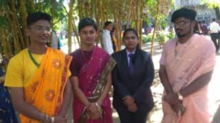 Boys From Pune's Fergusson College Wear Sarees To Promote the Idea of Gender Equality
