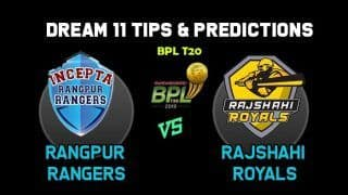 Dream11 Team Prediction Rangpur Rangers vs Rajshahi Royals: Captain And Vice Captain For Today BPL T20 BPL 2019-20 Match 29 RAR vs RAN at Shere Bangla Stadium in Dhaka 1:00 PM IST January 2