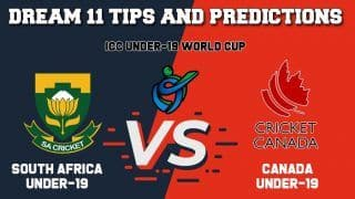 SA-U19 vs CAN-U19 Dream11 Team Captain, Vice-Captain