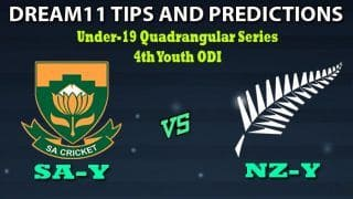 SA-Y vs NZ-Y Dream11 Team Prediction Quadrangular U19 Series 2020: Captain And Vice-Captain, Fantasy Cricket Tips South Africa Under 19 vs New Zealand Under 19 4th Youth ODI at Chatsworth Stadium, Durban 1:00 PM IST