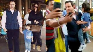 Saif Ali Khan Gets Furious Over Fan Hounding Him For Selfie While Taimur Calls For 'Mumma' - Viral Video