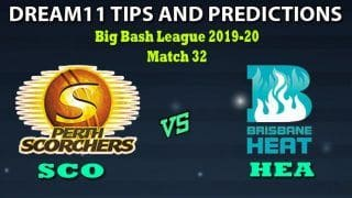 SCO vs HEA Dream11 Team Prediction Big Bash League 2019-20: Captain And Vice-Captain, Fantasy Cricket Tips Perth Scorchers vs Brisbane Heat Match 32 at Perth Stadium, Perth 3:40 PM IST