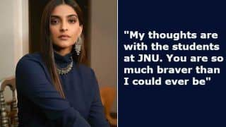 'Use Your Voice'! Sonam Kapoor Comes Strong Against JNU Attacks Like no Other Leading Movie Star