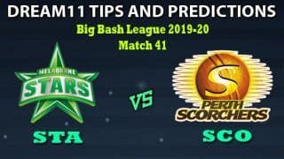 STA vs SCO Dream11 Team Prediction Big Bash League 2019-20: Captain And Vice-Captain, Fantasy Cricket Tips Melbourne Stars vs Perth Scorchers Match 41 at Melbourne Cricket Ground, Melbourne 10:30 AM IST