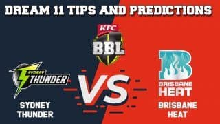 Dream11 Team Prediction Sydney Thunder vs Brisbane Heat: Captain And Vice Captain For Today Big Bash League 2019-20 BBL T20 Match 25 THU vs HEA at Sydney Showground Stadium in Sydney 1:40 PM IST January 6