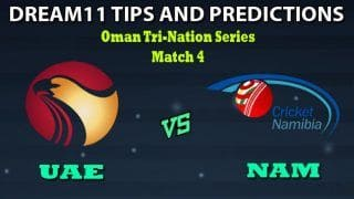UAE vs NAM Dream11 Team Prediction Oman Tri-Nation Series 2020