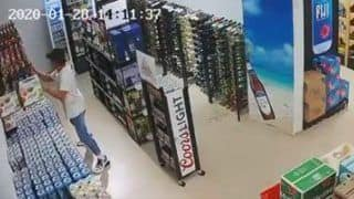 Watch | Video of Man Trying to Save Liquor Bottles During Earthquake Goes Viral