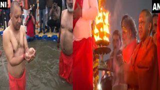 बसंत पंचमी पर योगी आदित्यनाथ ने लगाई गंगा में डुबकी, आरती और पतंग उड़ाकर मनाया पर्व