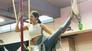 Pollywood Hottie Sonam Bajwa Ups The Hotness Quotient in Gym While Stretching Legs