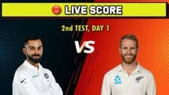 Live, IND vs NZ, 2nd Test, Day 1: New Zealand Openers Solid in Reply After India Fold For 242