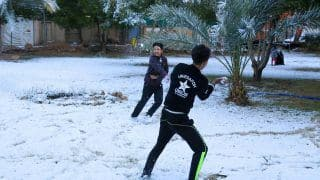Watch | Baghdad Receives Snowfall For the First Time In 12 Years, Excited Citizens Share Pictures & Videos