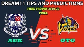 AUK vs OTG Dream11 Team Prediction, Ford Trophy 2019-20, Final: Captain And Vice-Captain, Fantasy Cricket Tips Auckland vs Otago at Eden Park Outer Oval, Auckland 3:30 AM IST