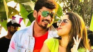 Bhojpuri Sizzler Amrapali Dubey Shoots For Special Holi Song, Looks Hot in BTS Pictures