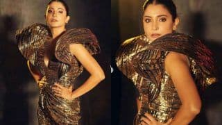 Anushka Sharma Amps Her Glamarous Look in Thigh-high Slit Bronze Dress And we Are Left Smitten by Her Hot Look