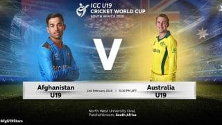 Dream11 Team Australia U19 vs Afghanistan U19 Prediction: Fantasy Tips, Captain And Vice Captain For Today ICC U-19 Cricket World Cup 2020 5th Place Playoff Semifinal 2 AU-U19 vs AF-U19 at North-West University No1 Ground, Potchefstroom 1:30 PM IST