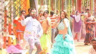 Bhojpuri Song: आम्रपाली दूबे पर रंग डालने गए निरहुआ को पड़ी गाली, कहा- रंग डलबा त..