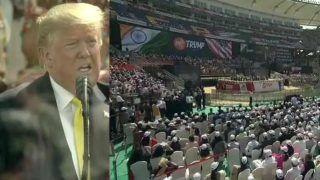 अमेरिकी राष्ट्रपति डोनाल्ड ट्रंप ने सचिन तेंदुलकर और विराट कोहली का किया जिक्र, तालियों से गूंज उठा मोटेरा स्टेडियम