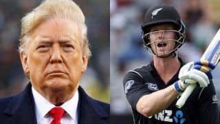 Icc james neesham take a dig on donald trump for wrongly pronouncing sachin tendulkar virat kohlis name 3953426