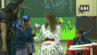 'People in India Are So Kind & Welcoming', Says Melania Trump After Visiting Delhi Govt School