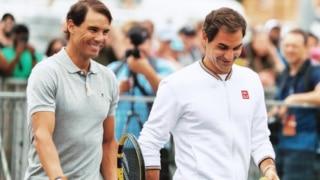 रोजर फेडरर-राफेल नडाल चैरिटी मैच देखने पहुंचे 50 हजार दर्शक; टेनिस में पहली बार हुआ ये कारनामा
