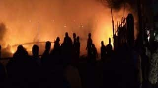 Fire Breaks Out at Bangali Basti in Delhi's Rohini, Several Shanties Gutted