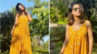 Hina Khan Slays in Bright Yellow Dress as She Enjoys Sunny Day During Her Goa Vacay