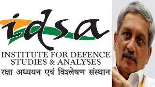 केंद्रीय रक्षा मंत्रालय ने IDSA का नाम बदलकर पूर्व रक्षा मंत्री मनोहर पर्रिकर के नाम पर रखा