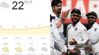 IND vs NZ: वेलिंगटन टेस्ट में बारिश अटका सकती है रोड़े ! जानें मौसम का हाल