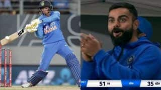 WATCH: Kohli's Reaction After Saini's Six is Priceless