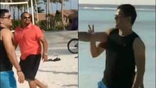 MS Dhoni Plays Volleyball With Friends in Maldives, Video Goes Viral | WATCH