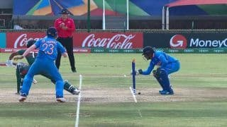 U19 World Cup Final: India Wicket-keeper Dhruv Jurel's Quick Stumping Against Bangladesh Remind Fans of MS Dhoni | WATCH VIDEO