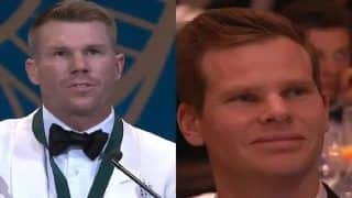 Steve Smith's Priceless Reaction After David Warner Mentions Virat Kohli in Emotional Speech is Unmissable | WATCH VIDEO