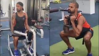 Shikhar Dhawan Shoulder Injury Update: Left-Handed Opener Hits Gym, Resumes Training | WATCH VIDEO