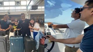 MS Dhoni Enjoys Vacation in Maldives, Drives Speedboat Like a Pro | WATCH VIDEO