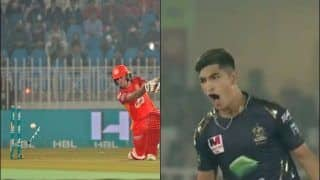PSL: Naseem Shah's Ripping Yorker to Clean Bowl Luke Ronchi Can be Watched on Loop | WATCH VIDEO