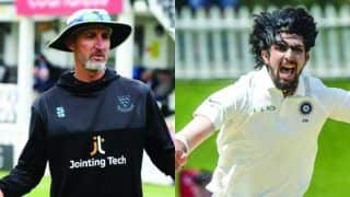 India vs new zealand jason gillespie lauds ishant sharma after his five wicket haul in wellington test 3951637