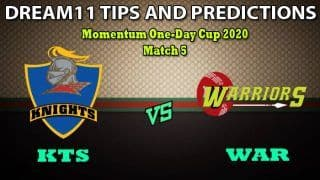 KTS vs WAR Dream11 Team Prediction Momentum One Day Cup 2020: Captain And Vice-Captain, Fantasy Cricket Tips Knights vs Warriors Match 5 at Mangaung Oval, Bloemfontein 5:00 PM IST