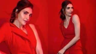 Karishma Tanna Paints The Town Red in Half-Blazer Jumpsuit, Looks Breathtaking