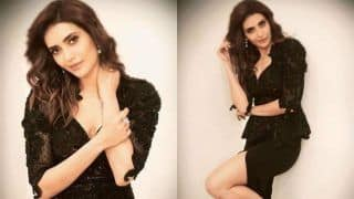 Karishma Tanna Looks Sizzling Hot in Thigh-high Slit Black Dress, Calls Herself 'Lady in Black'