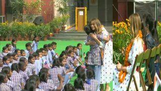 दिल्ली के स्कूल की हैप्पीनेस क्लास में शामिल हुईं मेलानिया ट्रंप, छात्रों ने किया जोरदार स्वागत