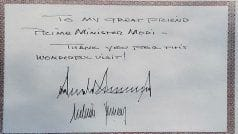 'Great Friend Modi...   , Here's What President Trump Wrote in Sabarmati Ashram's Visitor Book