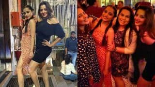 Bhojpuri Sizzler Monalisa Parties All Night With Nazar Cast, Looks Smouldering Hot in Sexy Black Dress