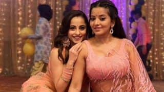 Bhojpuri Sizzler Monalisa And Nazar Fame Niyati Fatnani Flaunt Their Hot Sheer Saree Look in Latest Sultry Pictures
