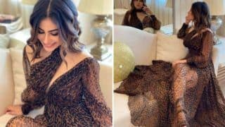 Mouni Roy Looks Super Hot as She Wears Sheer Leopard Print Gown And we Can't Stop Gushing Over Her