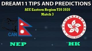 HK vs NEP Dream11 Team Prediction, ACC Eastern Region T20 2020, Match 3: Captain And Vice-Captain, Fantasy Cricket Tips Hong Kong vs Nepal at Terdthai Cricket Ground, Bangkok 8:00 AM IST