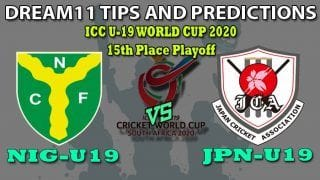 NIG-U19 VS JPN-U19 Dream11 Team Prediction ICC Under19 World Cup 2020: Captain And Vice-Captain, Fantasy Cricket Tips Nigeria U19 vs Japan U19 15th Place Playoff at North-West University 2 Ground, Potchefstroom 1:30 PM IST