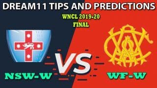 NSW-W vs WF-W Dream11 Team Prediction, Women's National Cricket League, Final: Captain And Vice-Captain, Fantasy Cricket Tips New South Wales Women vs Western Australia Women at North Sydney Oval, Sydney 4:30 AM IST