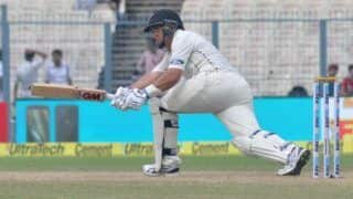 New zealand vs india 1st test kane williamson ross taylors partnership new zealand trail by 49 runs 3950395